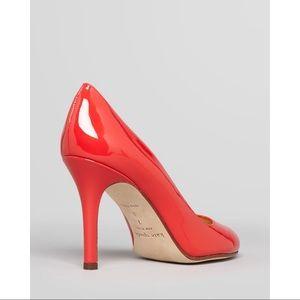 Kate spade Vida patent leather pumps red heels